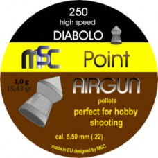 Diabolo MSC - 5.5 Špic Point Airgun hobby 250kom