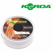 Špaga za predvez Korda Super Natural Gravel brown